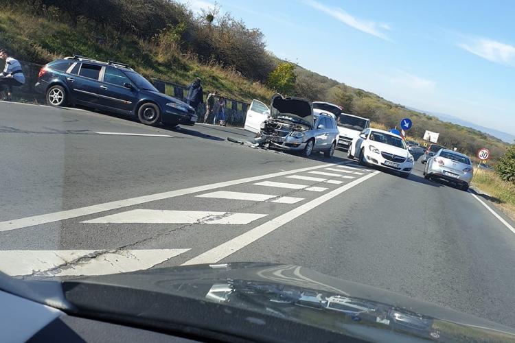 Accident cu victime pe Feleac FOTO