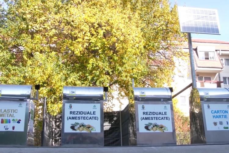 La Cluj-Napoca și gunoiul se aruncă smart. Tomberoanele din Zorilor au cartelă de acces - VIDEO