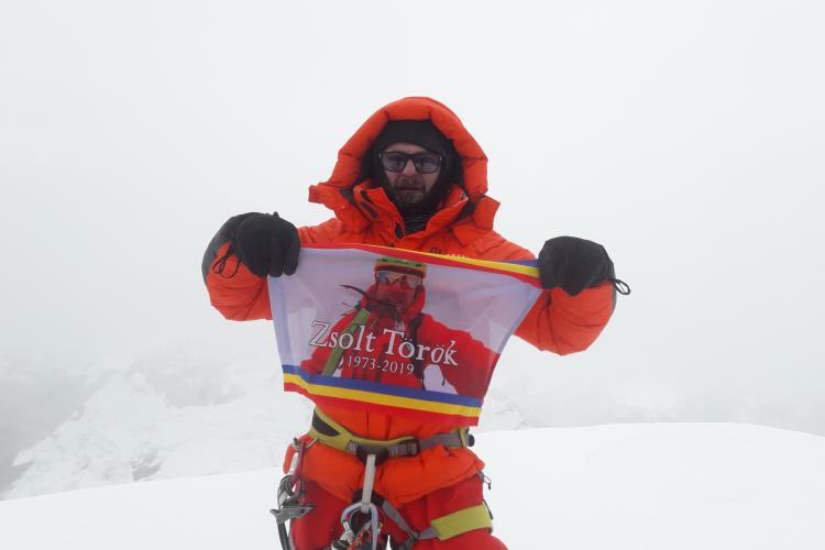 Cel mai frumos munte al lumii, urcat solo de alpinistul clujean Radu Albu în memoria lui Zsolt Torok - FOTO