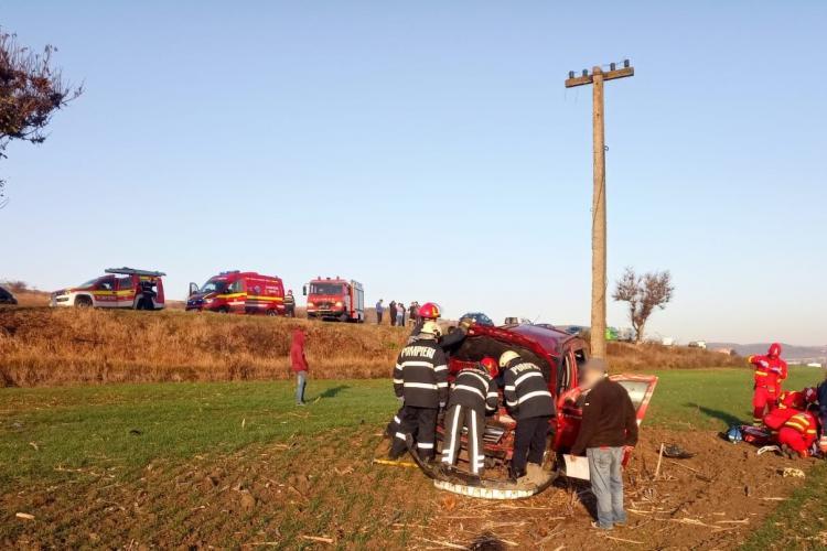 Accident între Vâlcele și Mărtinești. Șoferul ar fi adormit la volan - FOTO