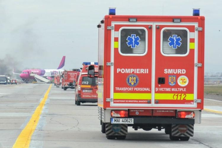 Atenție! Exercițiu în caz de accident aviatic la Aeroportul din Cluj
