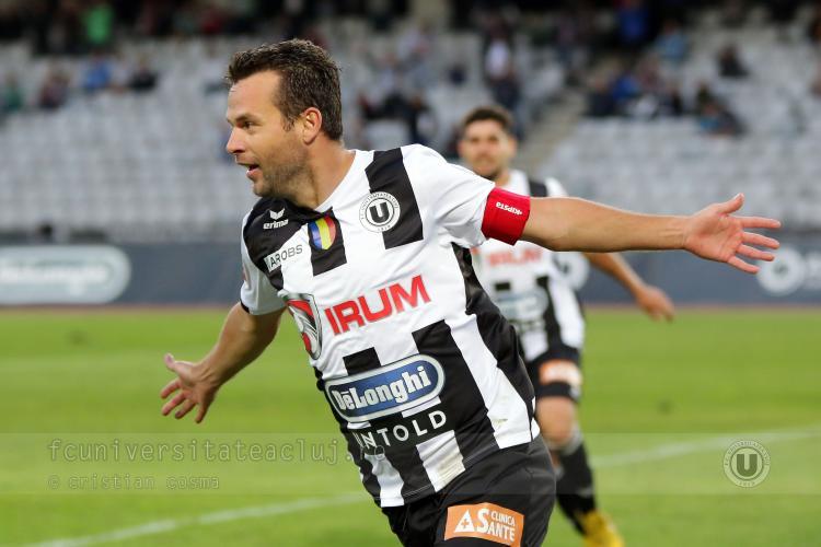 U Cluj a făcut numai egal cu UTA Arad, scor 1-1. Am avut noroc cu golul lui Goga