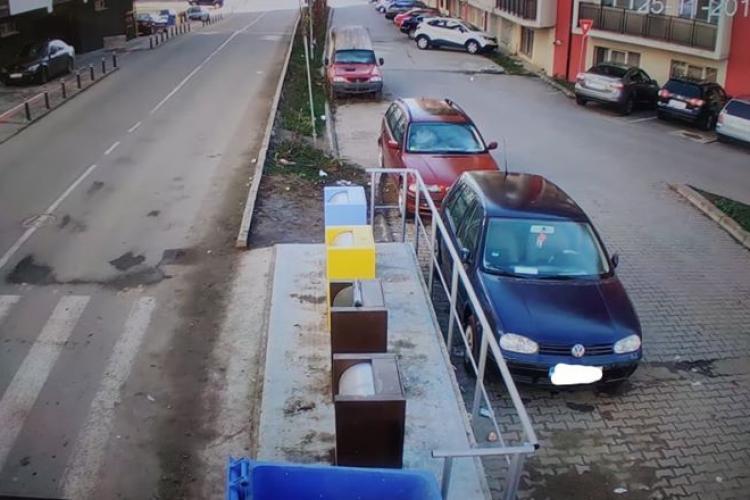 În Baciu s-au montat camere de supraveghere la ghenele de gunoi subterane