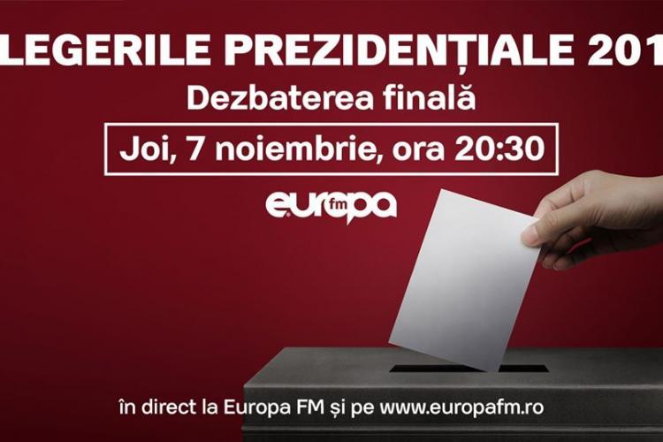 Dezbatere între candidații la Președinția României LIVE la Europa FM. Moderator Moise Guran