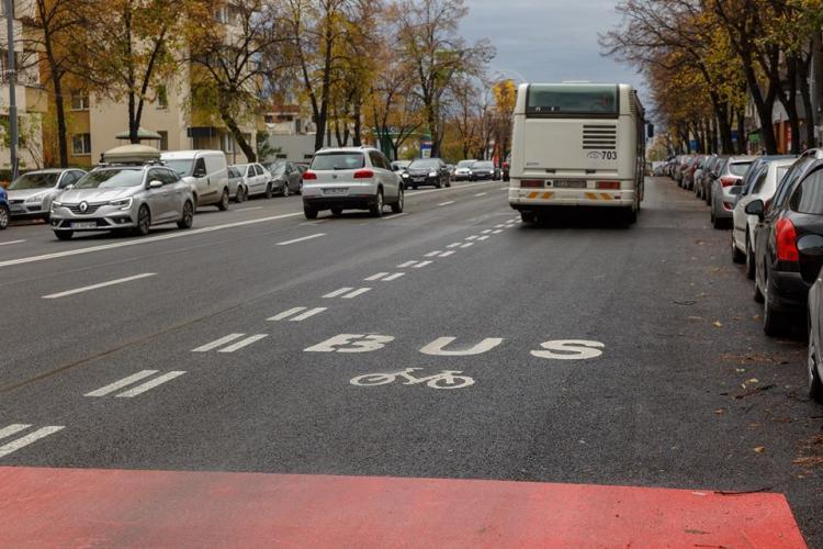 Primăria Cluj-Napoca anunță o nouă bandă dedicată pentru mijloacele de transport în comun, pe Calea Florești