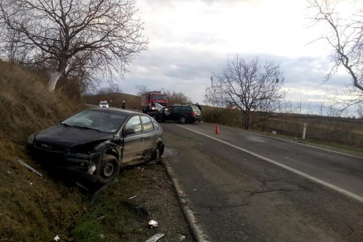 Accident la Mociu, joi, în jurul orei 14:40 - FOTO