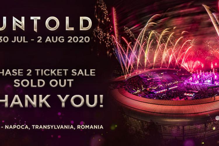 Valul 2 de abonamente pentru UNTOLD 2020 e SOLD OUT! S-au vândut peste 17.000 de bilete în câteva minute