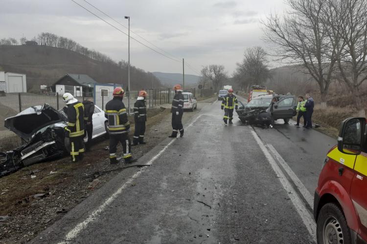 Accident GRAV în Apahida - FOTO