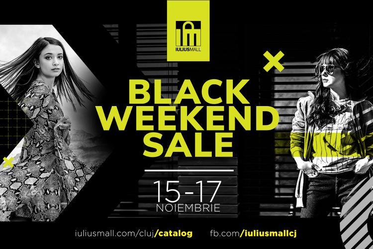 Vino să te bucuri de reduceri de până la 80% în Black Weekend Sale, la Iulius Mall Cluj!