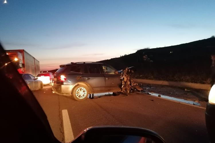 Accident grav la Jucu, cu patru mașini! Doua persoane au fost rănite FOTO