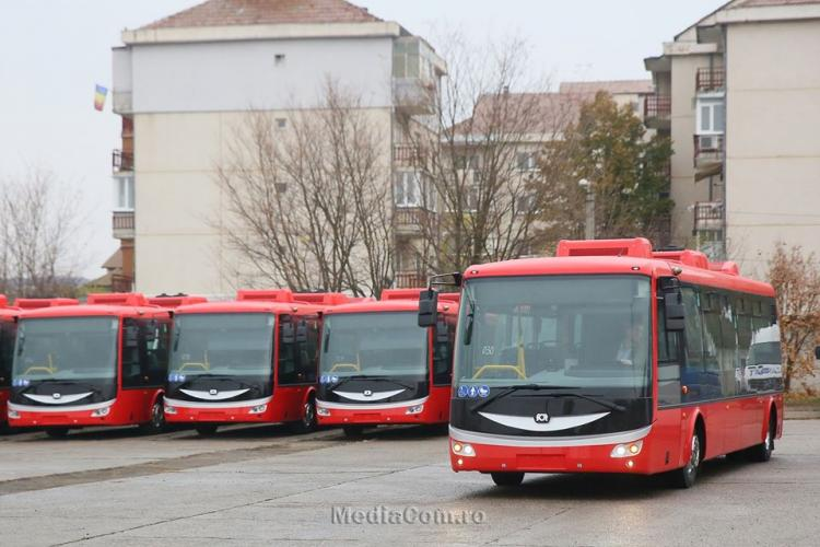 Turda are 20 de autobuze electrice noi. Municipiul va avea companie de transport public - VIDEO