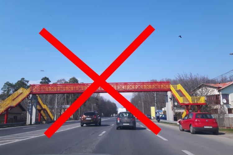 Boc explică de ce nu pot fi făcute pasarele peste drumurile din Cluj-Napoca