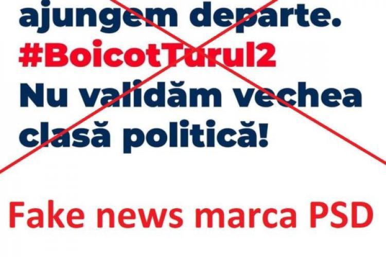 """Alt val de Fake News pe Facebook. Beneficiar PSD! Aveți grijă ce citiți pentru că sunt intoxicări de campanie """"Anti Vot"""""""