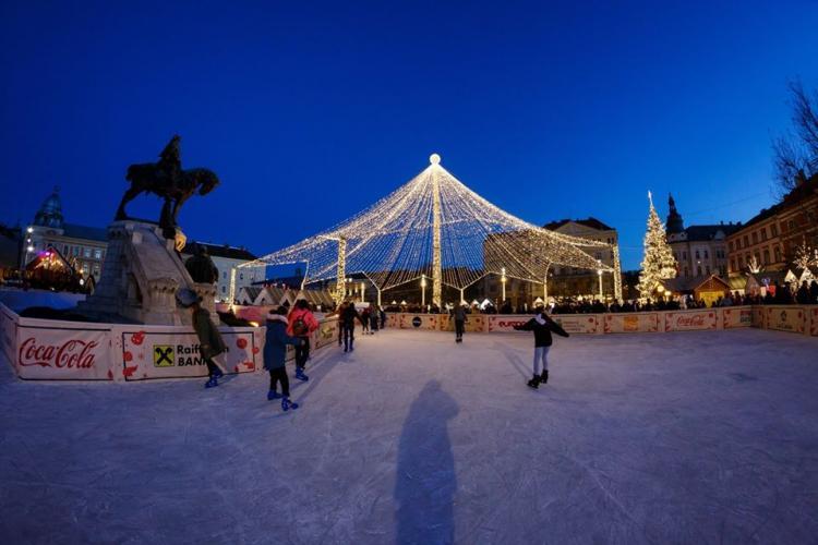 Acces gratuit la patinoarul din Piața Unirii Ziua Națională a României. Ce evenimente mai au loc