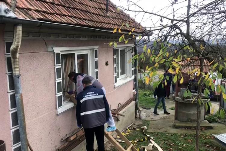 Crimă într-o localitate de lângă Dej. Victima este o femeie care locuia singură - VIDEO