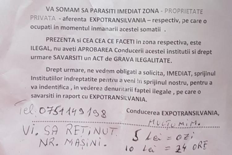 """Expo Transilvania îi vânează pe clujenii care parchează pe terenul din """"Groapă"""" - FOTO"""
