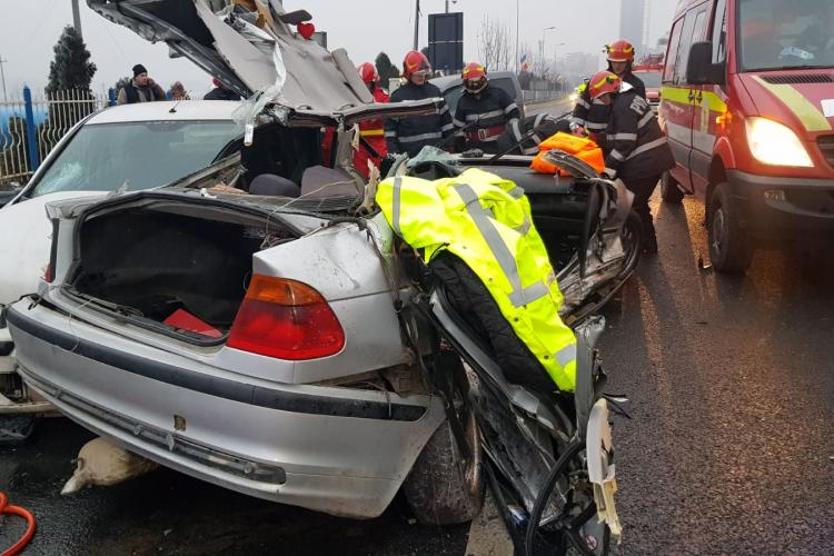 Șeful Poliției Florești, Florea Daniel, rănit grav în accidentul de sâmbătă dimineața de la Vivo