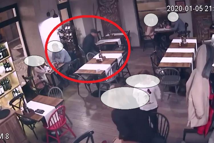 Hoț profesionist filmat la treabă în restaurantul Muura. Clujul atrage hoții experimentați - VIDEO