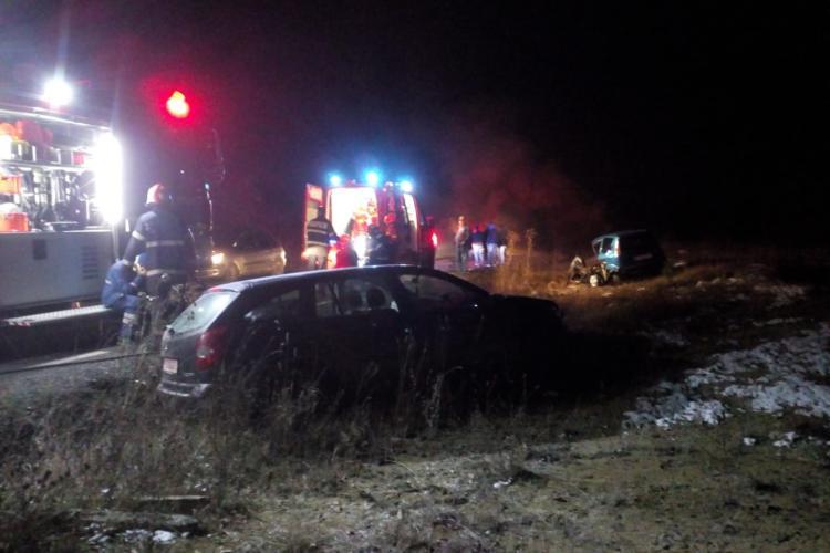 Accident la Sfântul Ion, în Făget. Un șofer a lovit un autovehicul condus de un șofer de 16 ani - FOTO