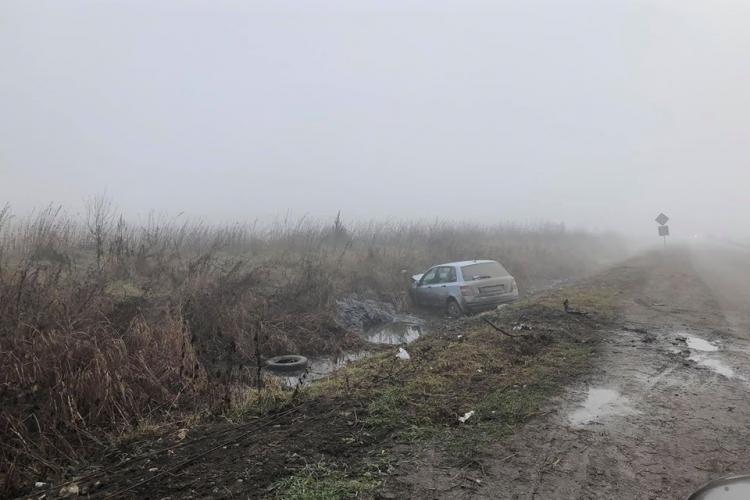 Șoferii clujeni ratează intrarea în Dezmir din cauza ceții - FOTO