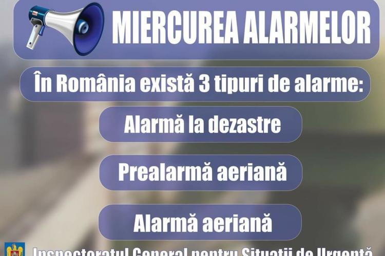 Suna din nou alarmele la Cluj și în toată țara