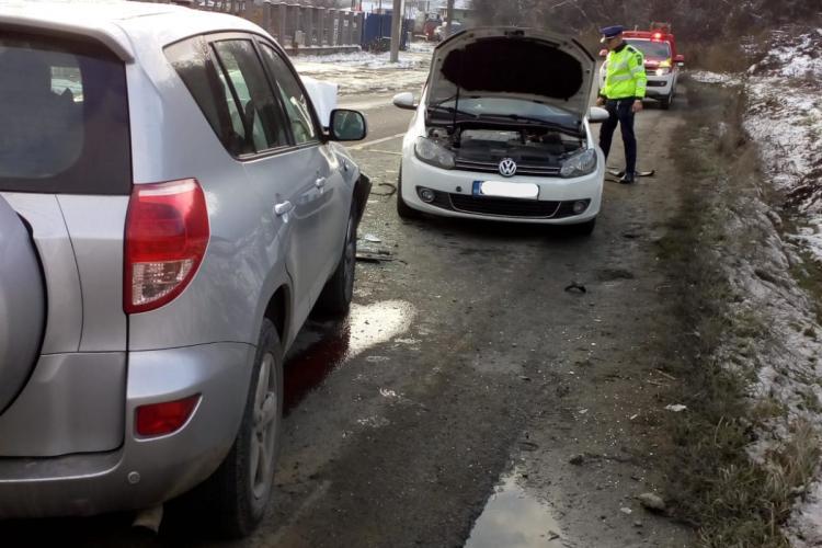 Accident la Dej, pe strada Bistriței, soldat cu mai mulți răniți - FOTO
