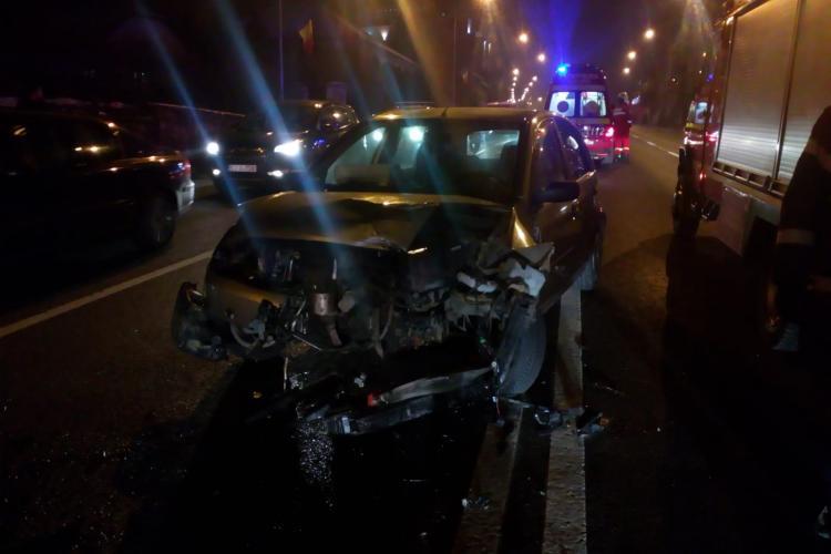 Accident pe Calea Turzii cu trei mașini implicate - VIDEO cu momentul impactului