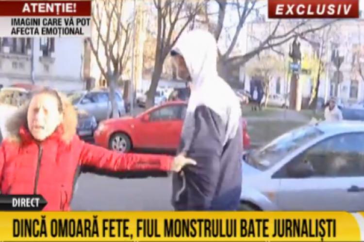 Fiul lui Gheorghe Dincă a agresat mai mulți jurnaliști VIDEO