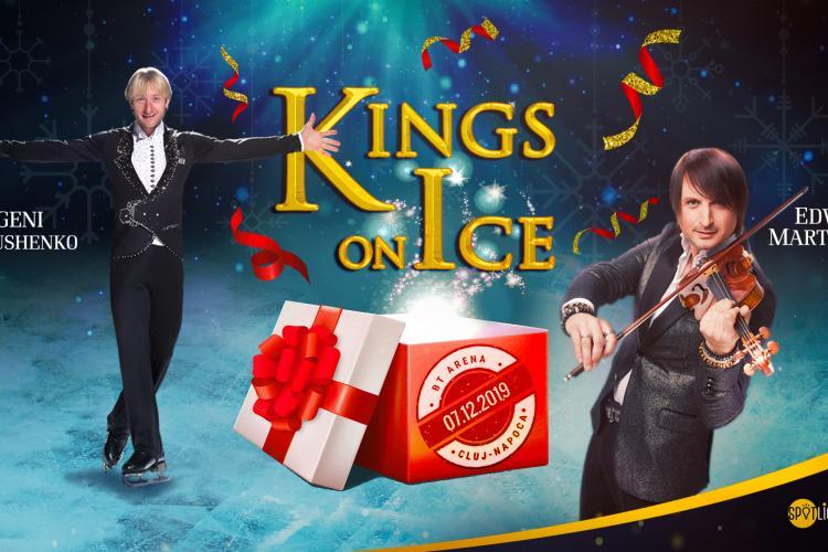 Kings on Ice aduce la Cluj o premieră mondială: Evgeni Plushenko va patina cu fiul său Alexander, 6 ani, pe acordurile lui Edvin Marton