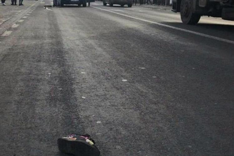 Accident grav în Apahida! Tânără lovită după ce a fugit pe trecerea de pietoni - FOTO