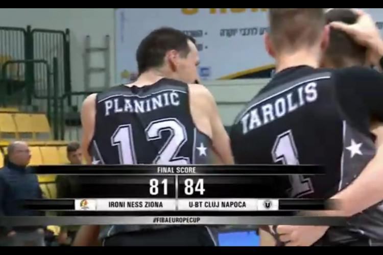 U Banca Transilvania, victorie cu Ironi Ness Ziona, în FIBA Europe Cup