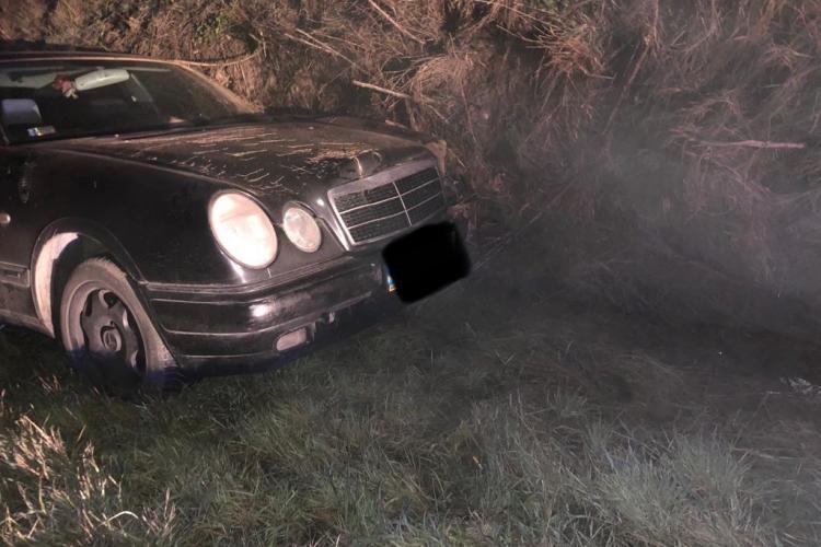 Accident pe un drum din Cluj. Un șofer a adormit la volan FOTO