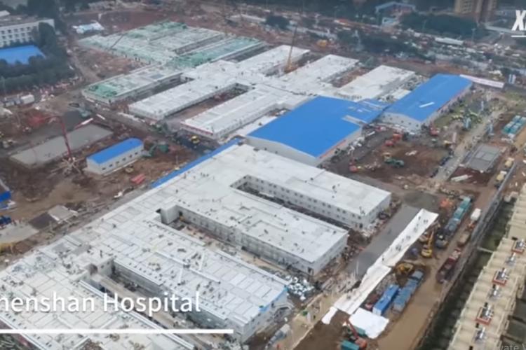 Cum arată spitalul din China construit în 10 zile. Imagini din interior - VIDEO