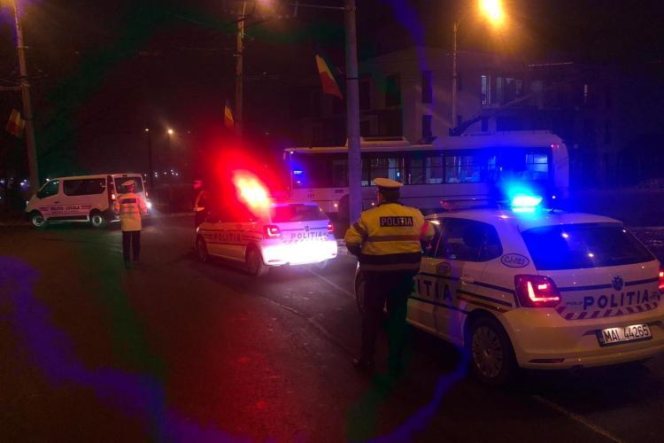 Razie de amploare în toiul nopții, în cartierele Mărăști, Mănăștur și Gheorgheni FOTO