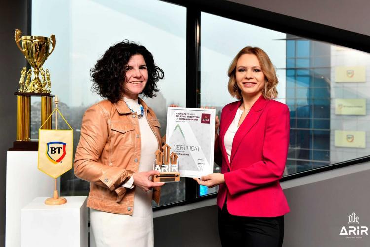 Banca Transilvania se alătură Asociației pentru Relații cu Investitorii la Bursă din România (ARIR)