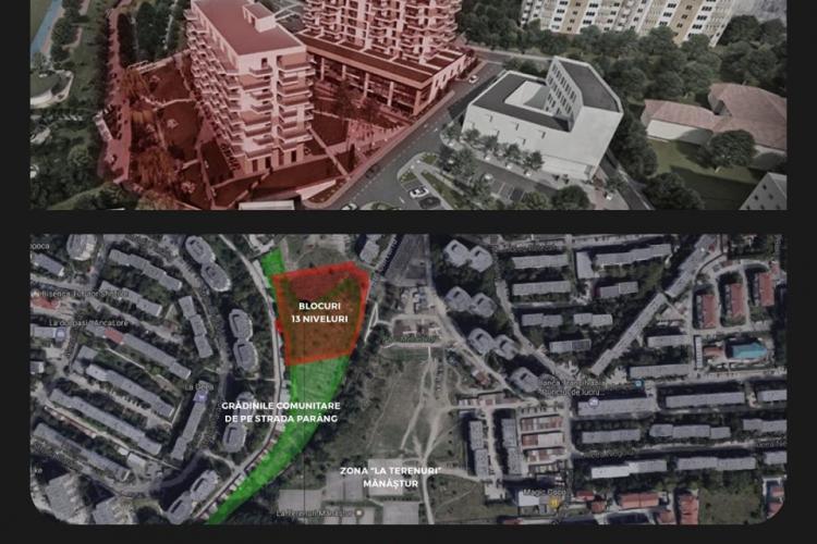 Boc, SOMAT să nu aprobe blocuri de 13 etaje în plămânul verde al Mănășturului - FOTO