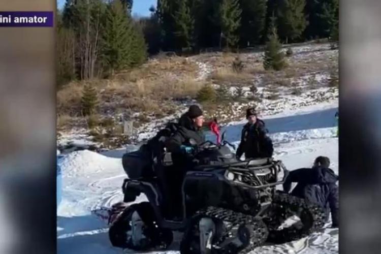 La schi în România: Un turist a fost bătut și călcat cu ATV-ul de angajații pârtiei. De la ce a pornit scandalul