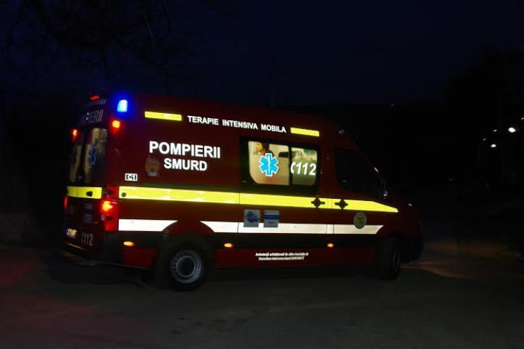 Accident cu victimă pe centura Vâlcele-Apahida. O persoană a ajuns la spital
