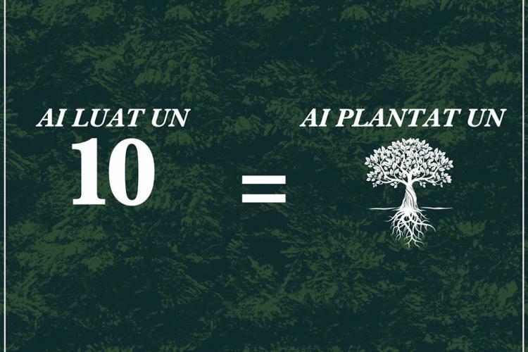 O facultate din Cluj plantează câte un copac pentru fiecare notă de 10 obținută de studenți în sesiune