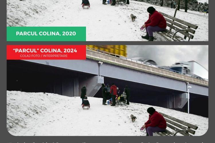Ipoteză halucinantă: Centura metropolitană va trece prin Parcul Colina - FOTO