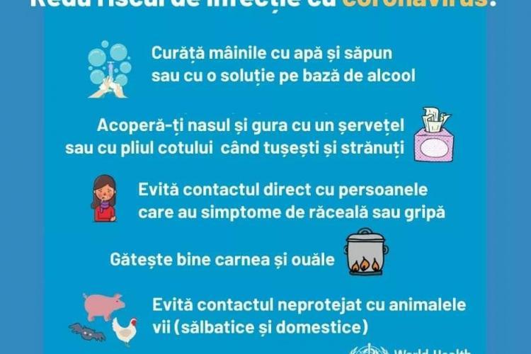 Mesajul Serviciului de Ambulanță privind reducerea riscurilor infecției cu coronavirus