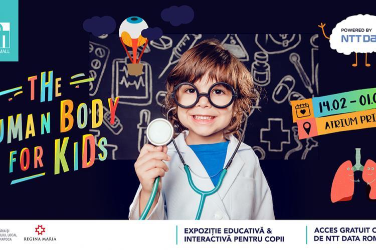 """Oferă-i copulului tău o experiență inedită, la expoziția """"The Human Body for Kids"""