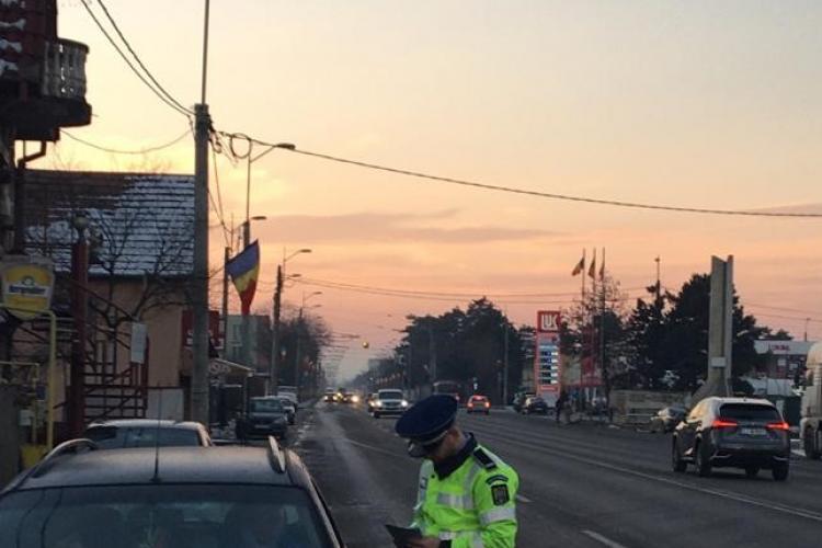 Razie de amploare în trafic la Cluj, la început de weekend. Câte amenzi s-au dat în doar câteva ore FOTO