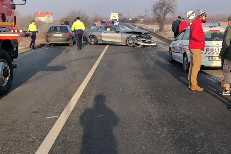CLUJ: Accident cu trei victime, cauzat de un șofer care mergea cu viteză FOTO