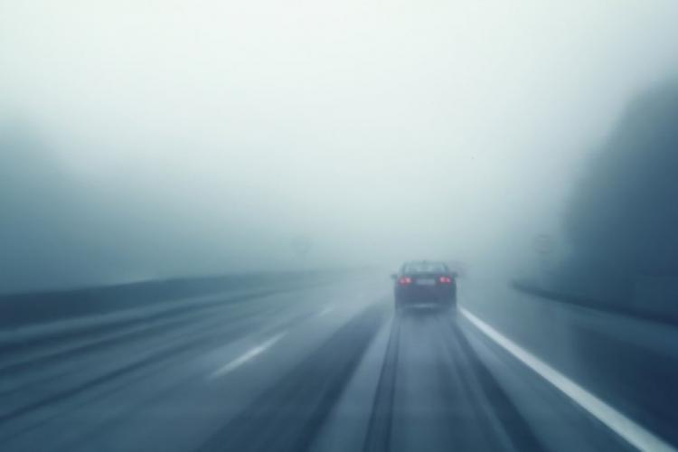 A cincea zi de ceață și polei la Cluj! Ce localități sunt afectate