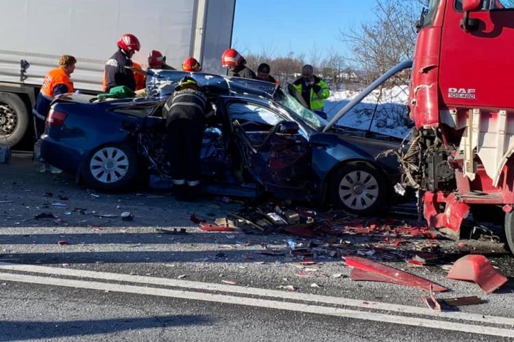 Accident grav la Piatra Craiului! Trafic oprit pe DN1 E60