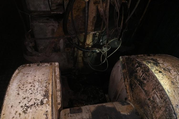 CLUJ: Incendiu la locomotiva unui tren PLIN cu azotat de amoniu FOTO