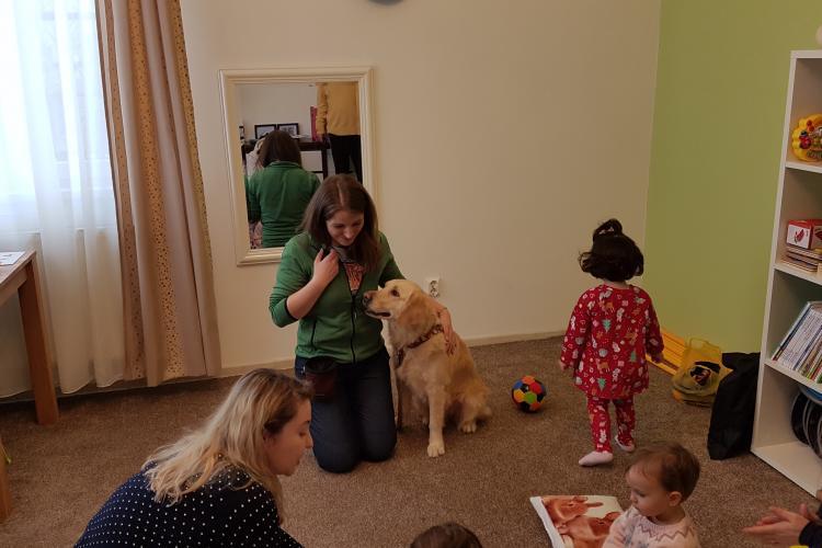 Premieră la Cluj! Prima clinică din România de psihoterapie pentru copii cu ajutorul câinilor - VIDEO