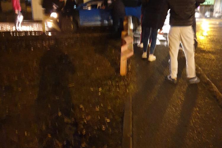 Accident la intersecția străzilor Răsăritului și Fabricii - VIDEO
