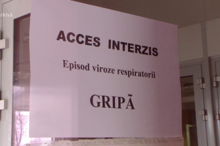 Gripa a închis parțial șapte școli din Cluj